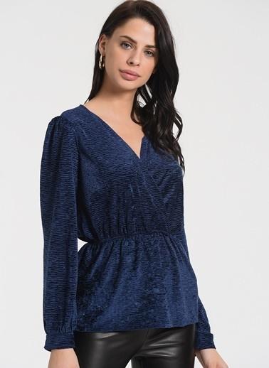 Styletag Kruvaze Bluz Lacivert